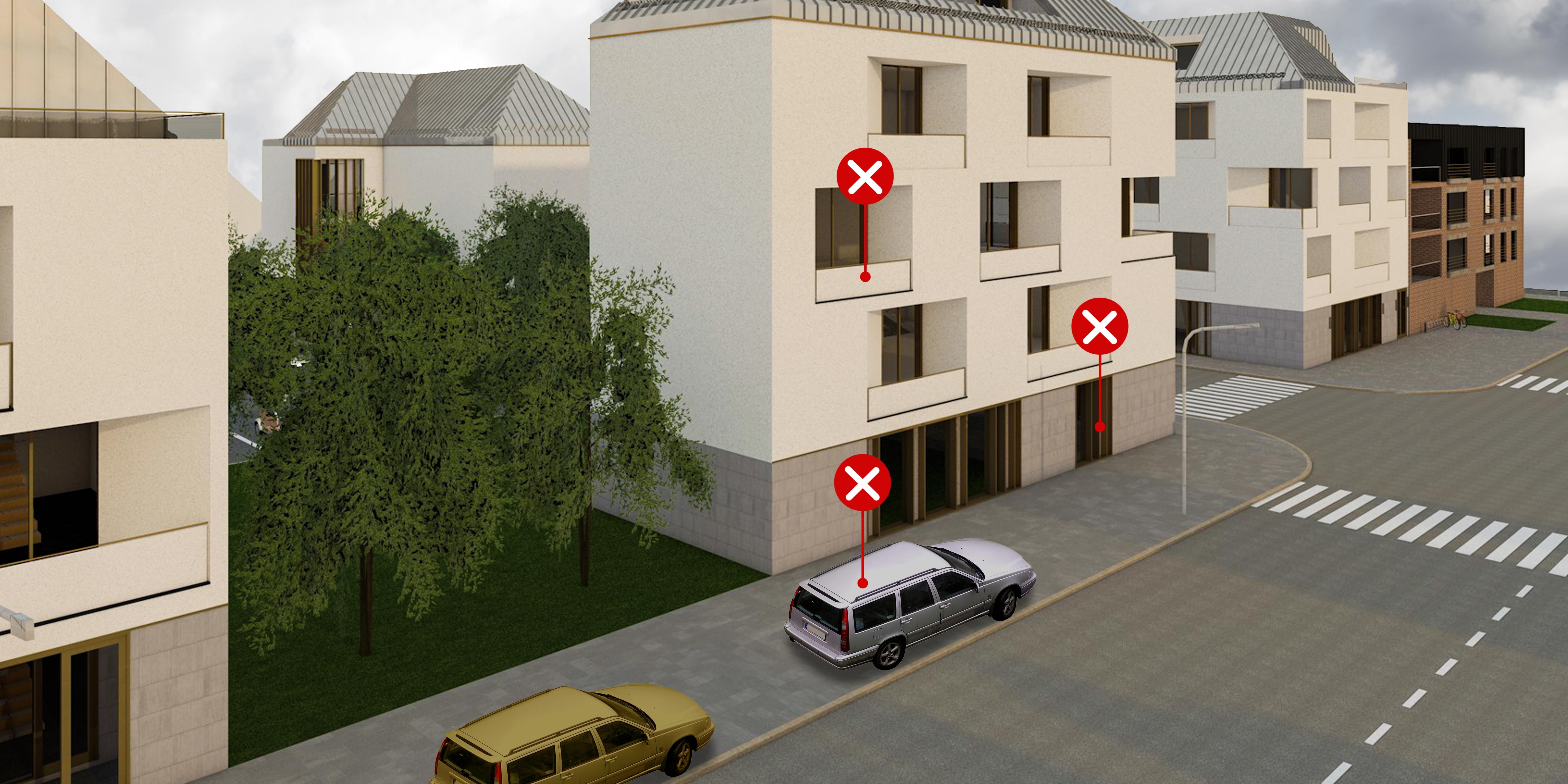 3 – Parkoló méretezés – helytelen