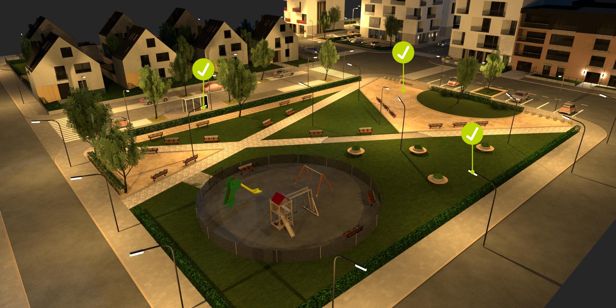 19 – Parkok megvilágítása – biztonságos elrendezés