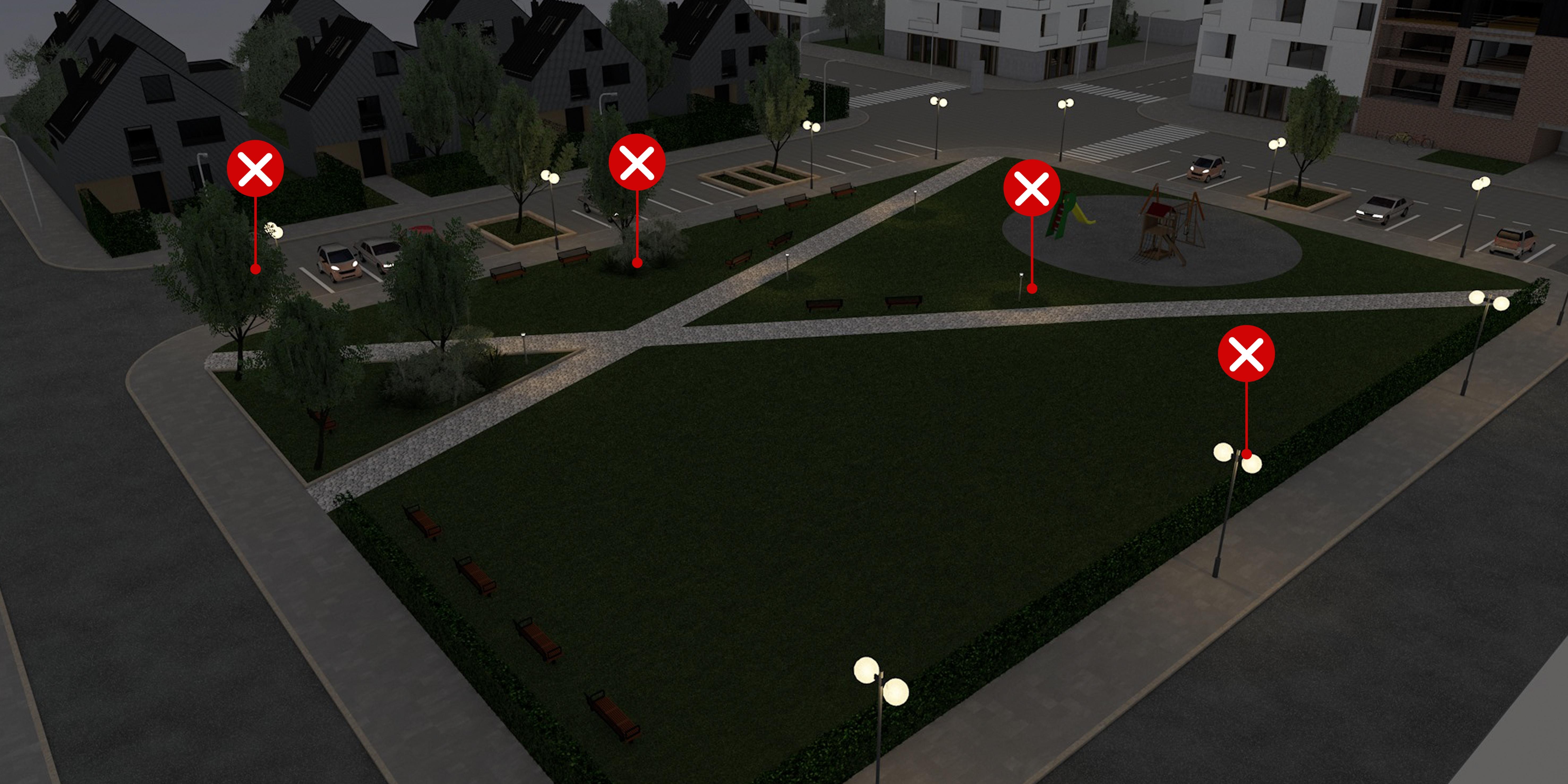 19 – Parkok megvilágítása – biztonságos