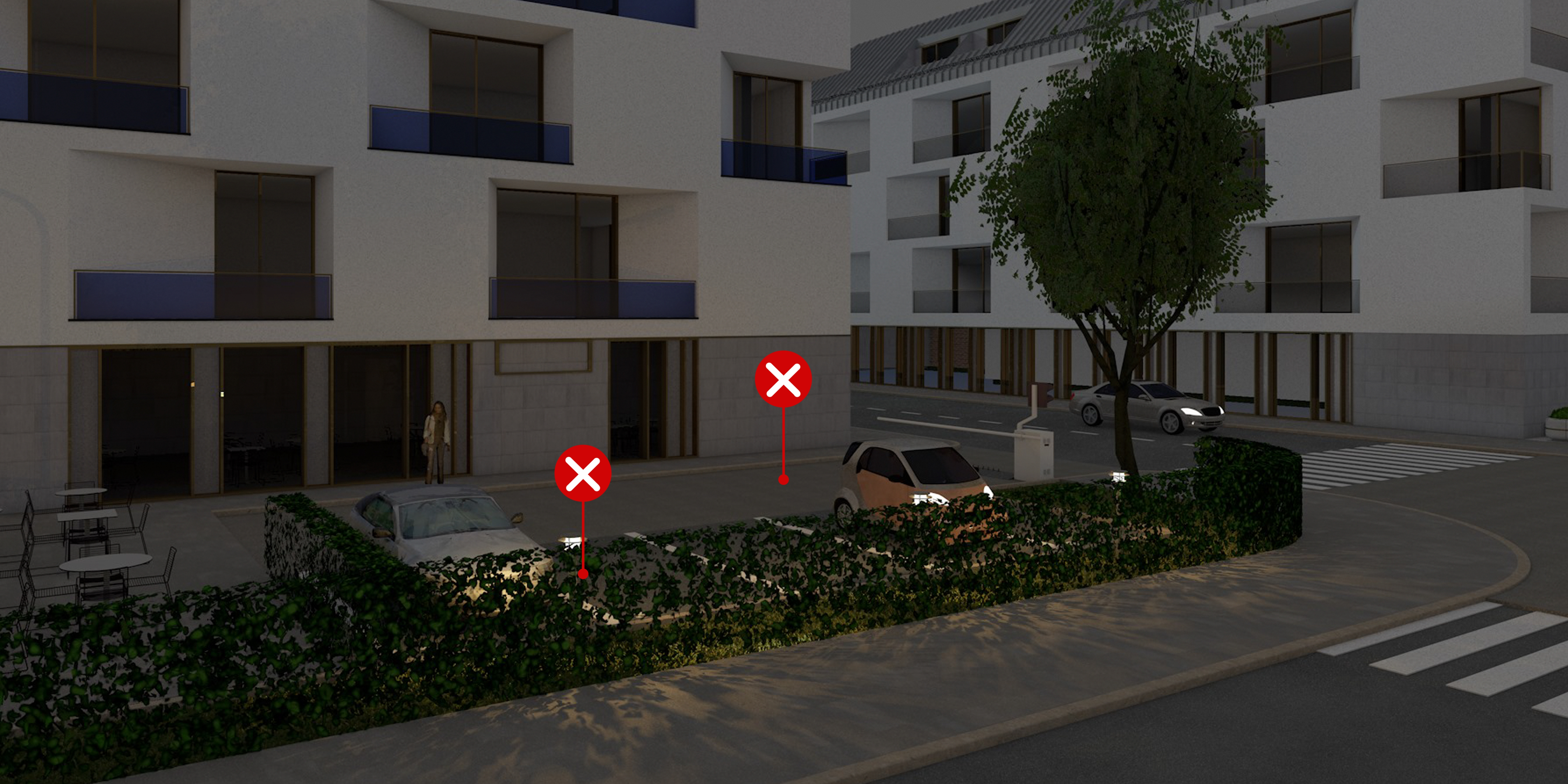 20 – Parkolók megvilágítása – helytelen