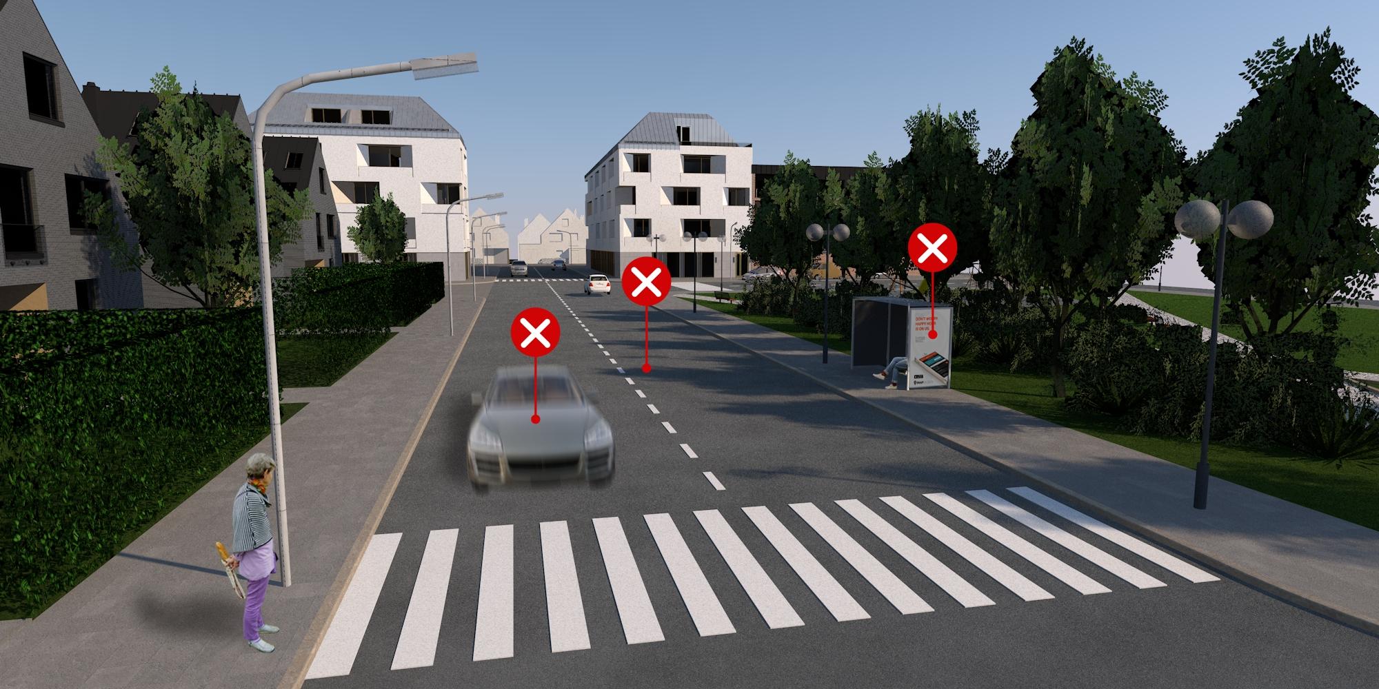 25 – Vegyes gyalogos- és járműforgalom – helytelen